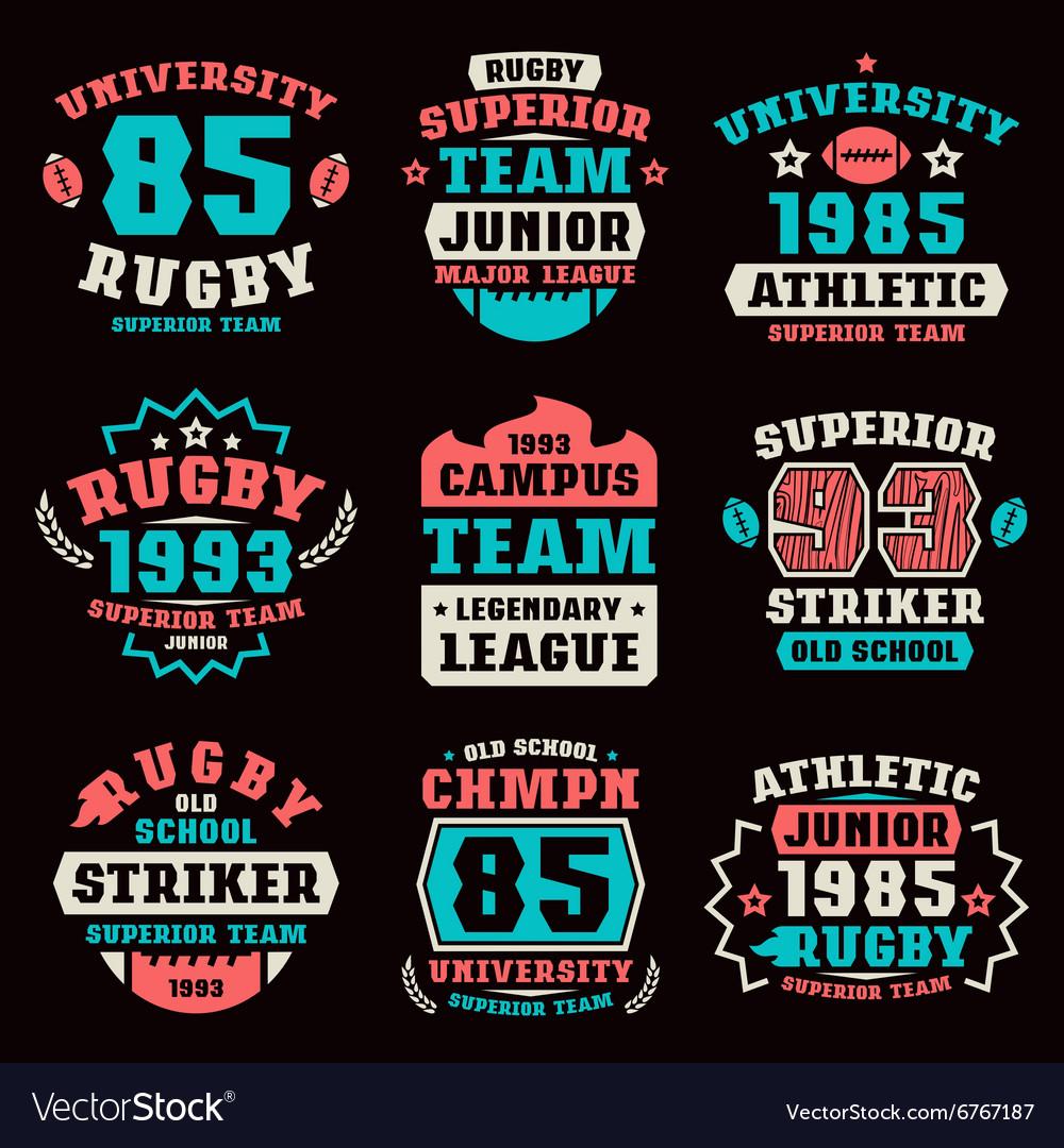 Rugby team badges