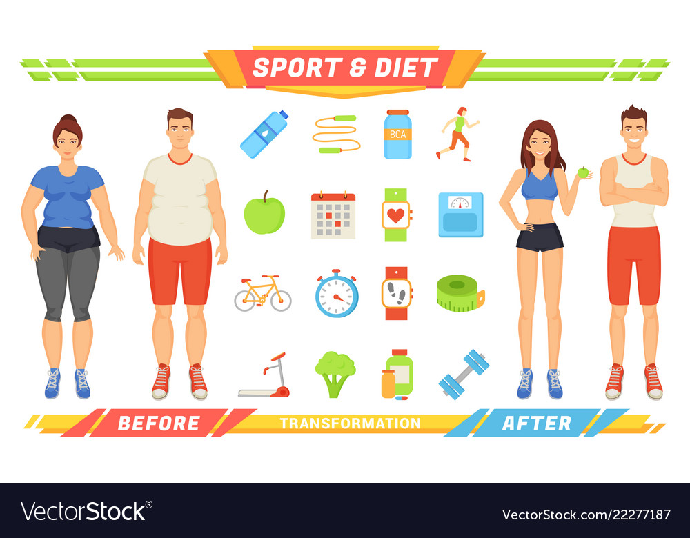 Sport and diet healthy poster
