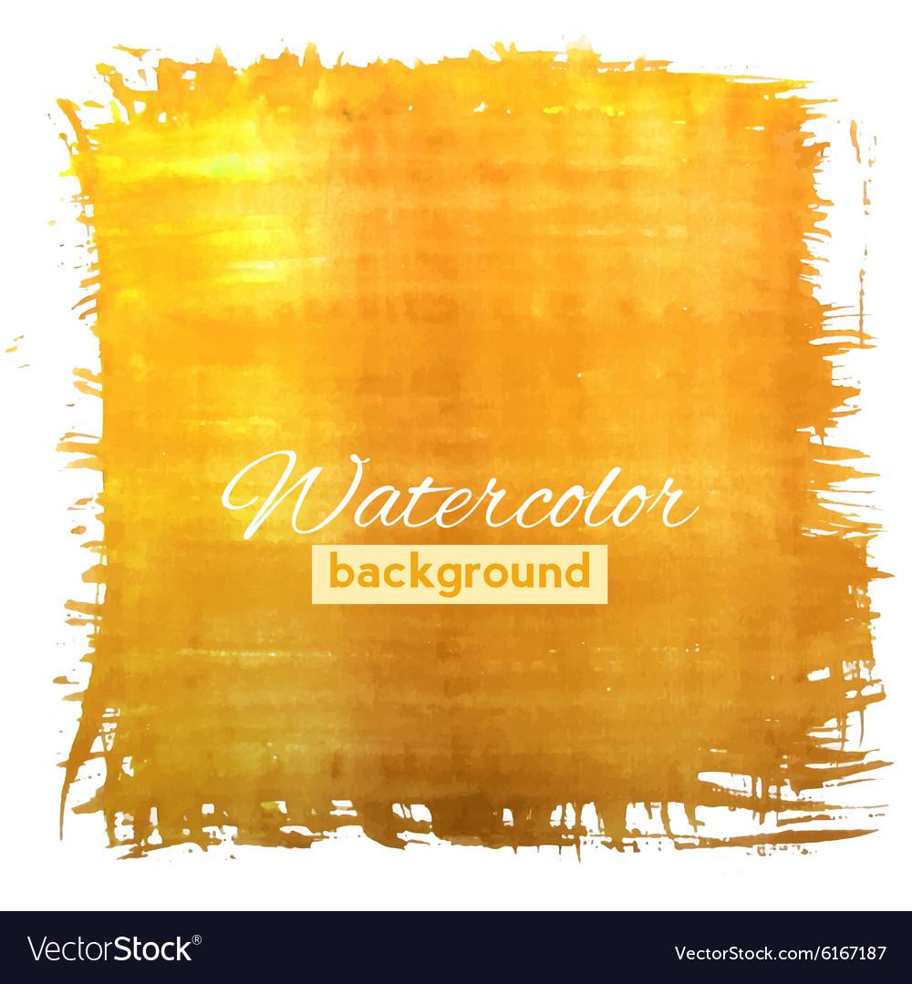 Square orange watercolour banner