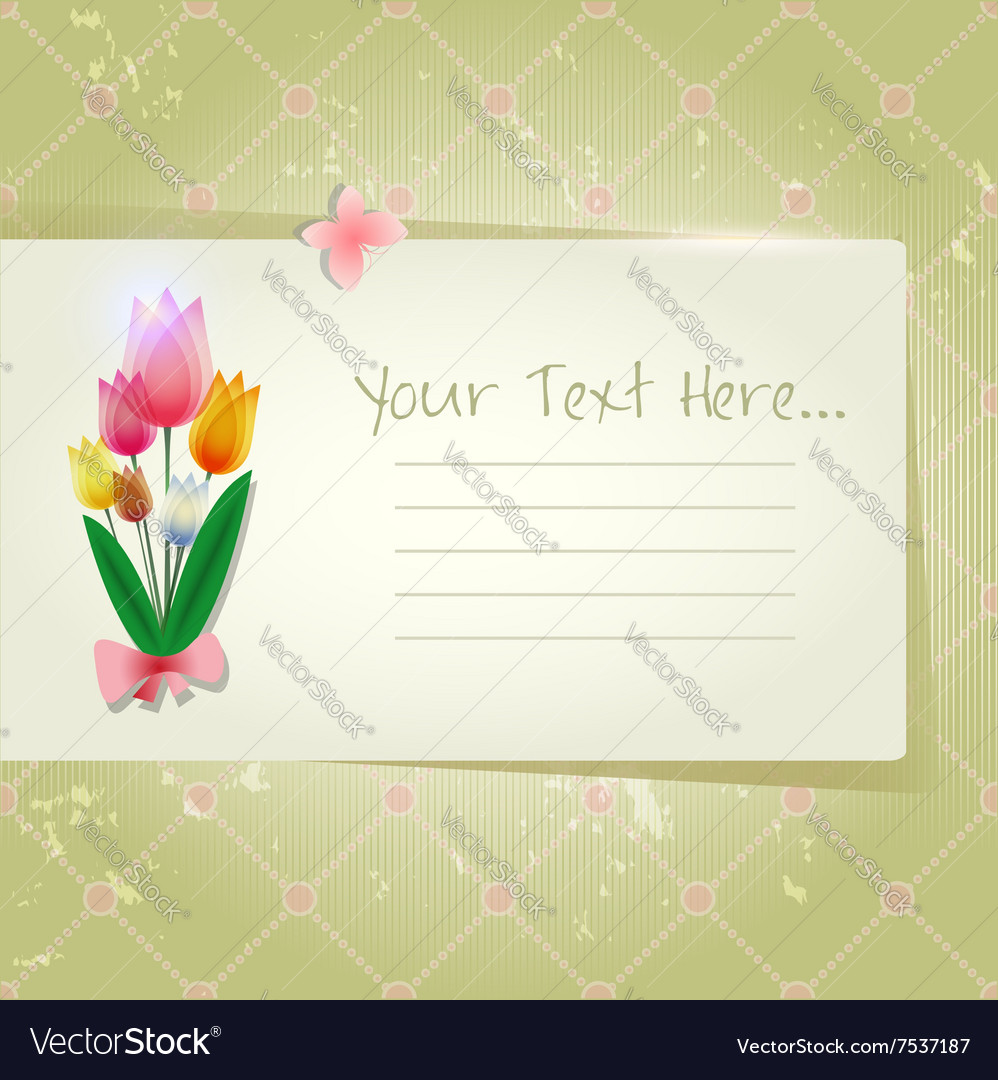 Tulip abstract old paper invitation royalty free vector tulip abstract old paper invitation vector image stopboris Choice Image