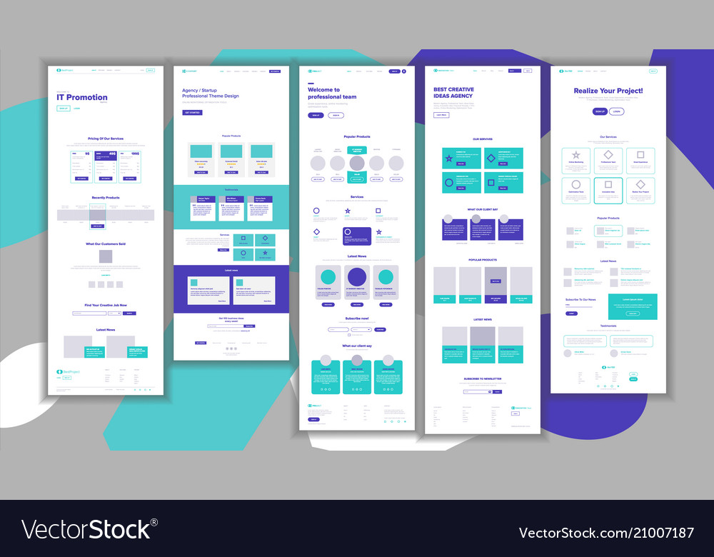 Website template page business project