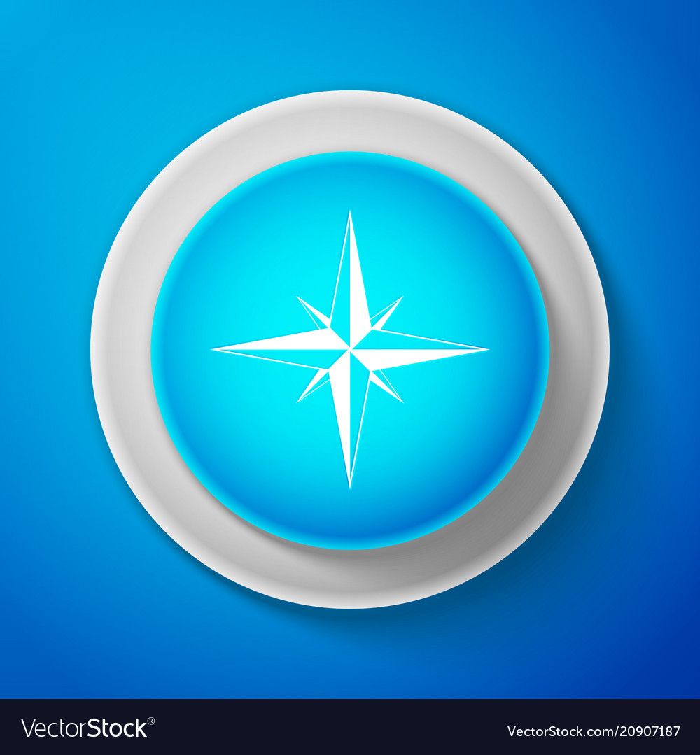 Wind rose icon isolated compass icon for travel