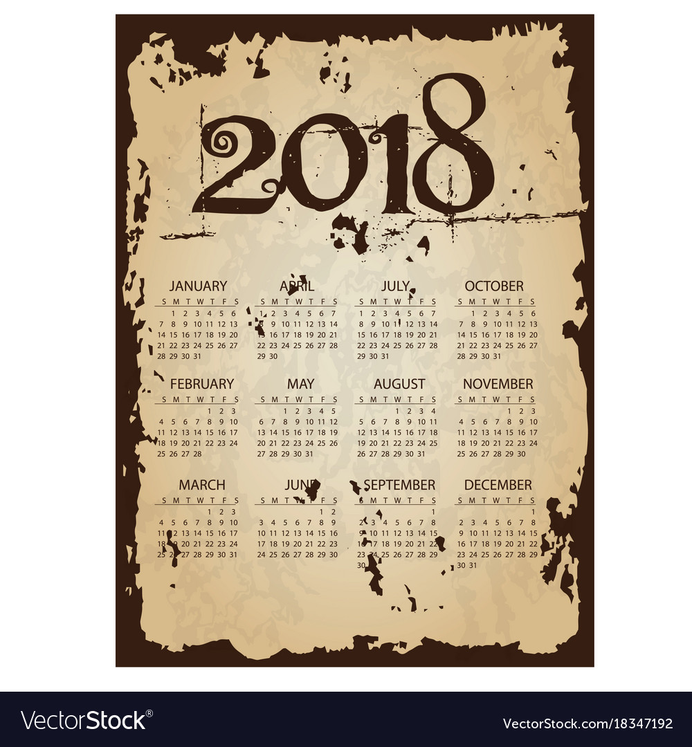 Image result for 2018 old calendar