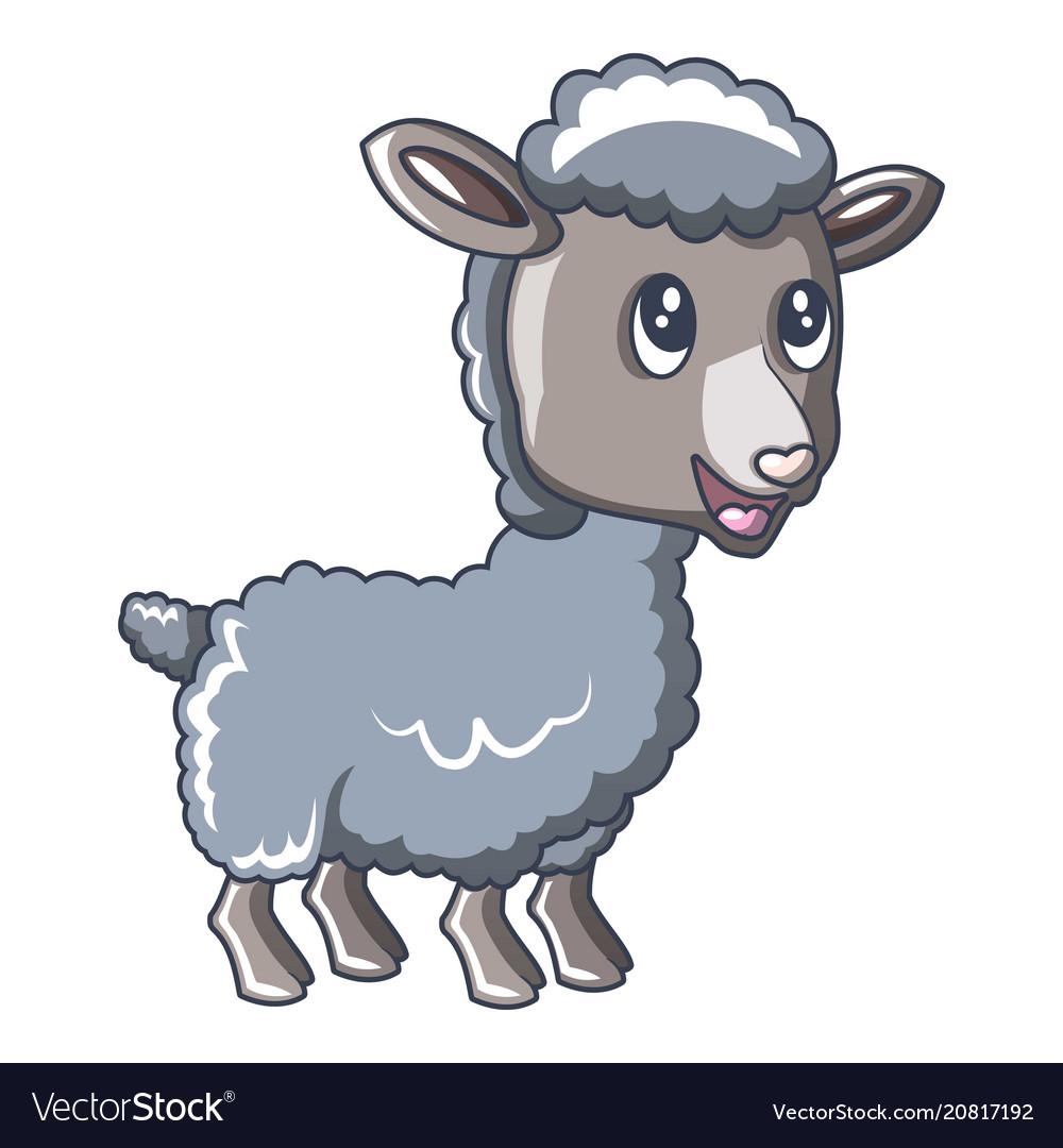 Child sheep icon cartoon style