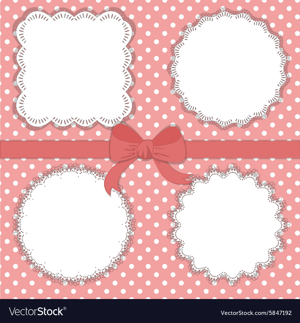 Collection of vintage designed lace frames vector image