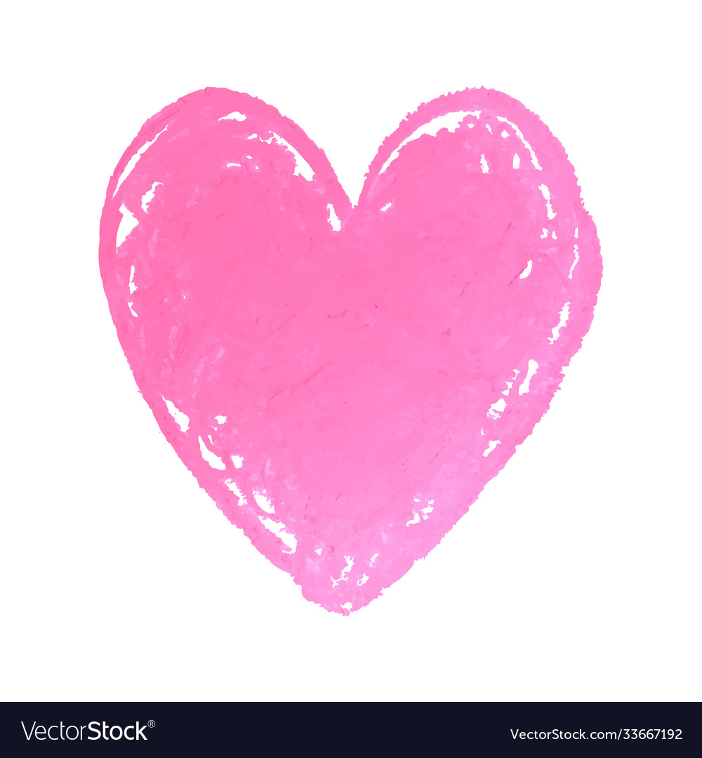 Heart shape drawn with pink