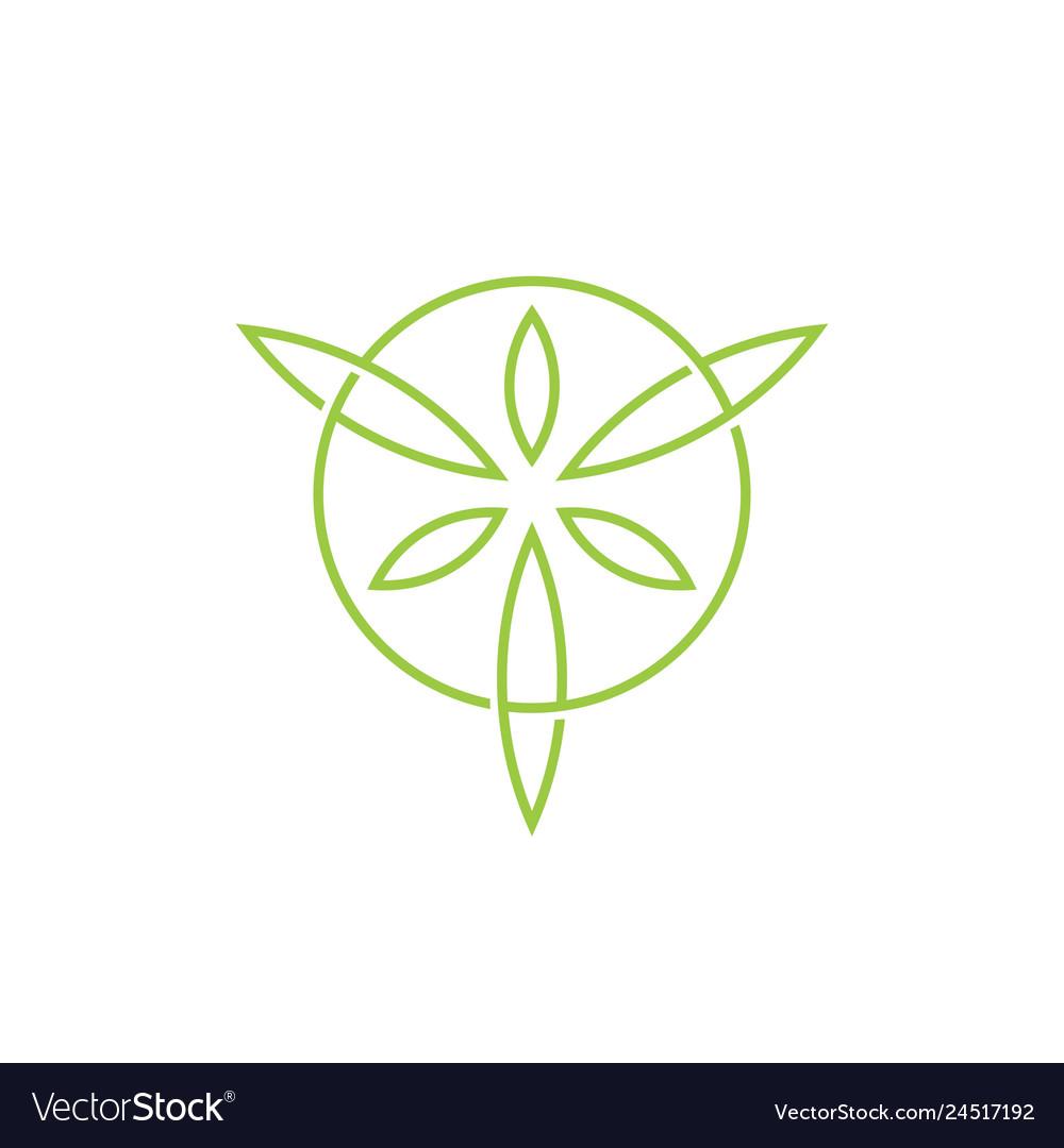 Leaf leaves circle circular logo icon