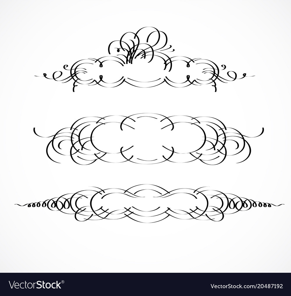 Vintage borders frame wicker lines and old decor Vector Image