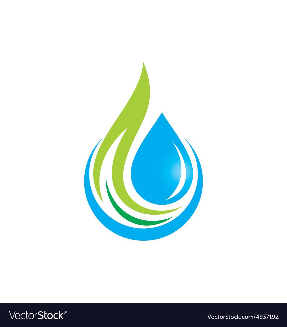 Water drop ecology logo