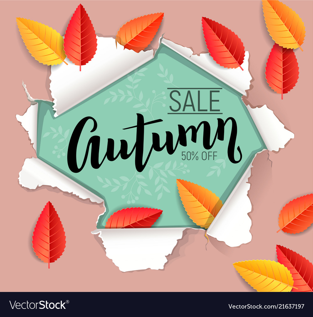 Autumn sale design banner
