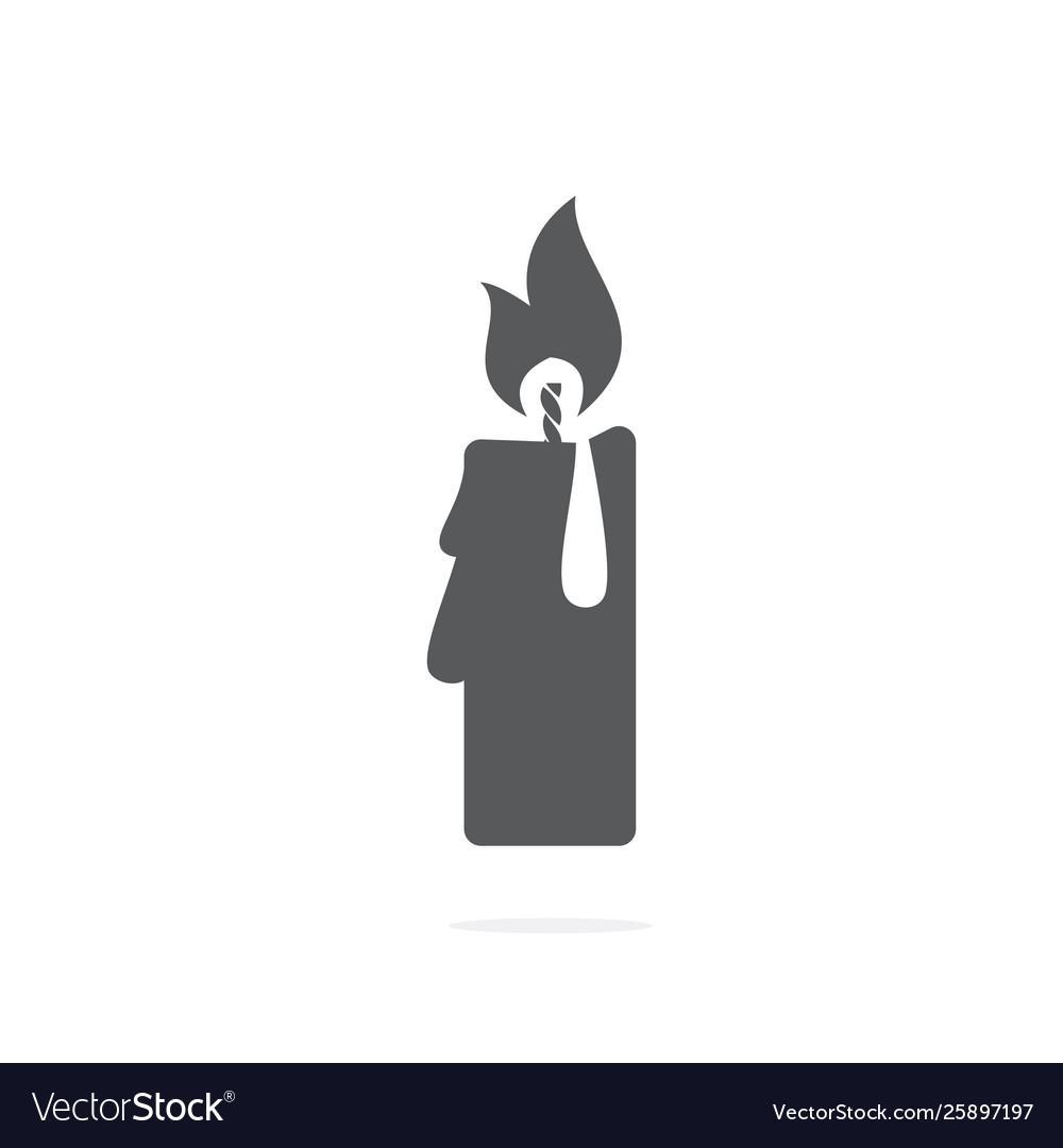 Candle icon on white background