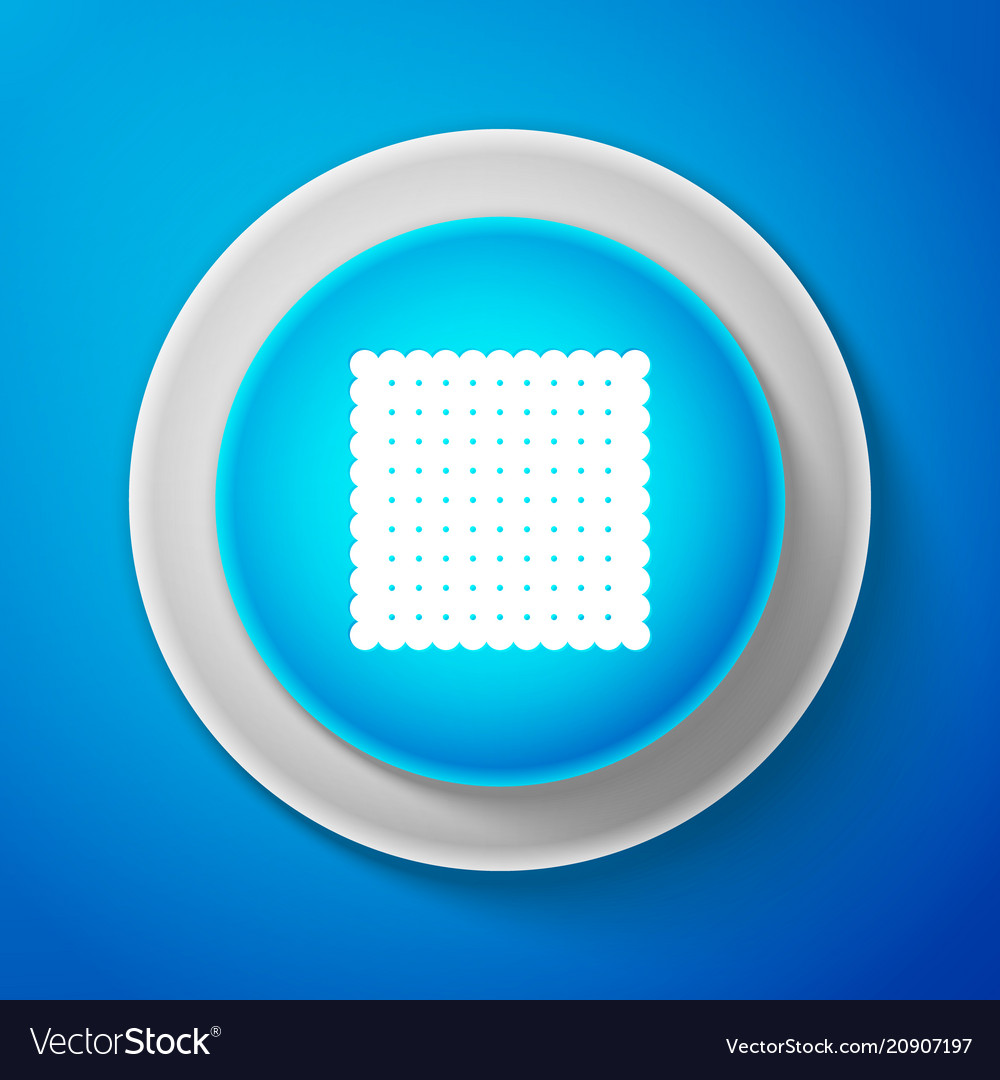 Cookie icon isolated pastry sing biscuit symbol