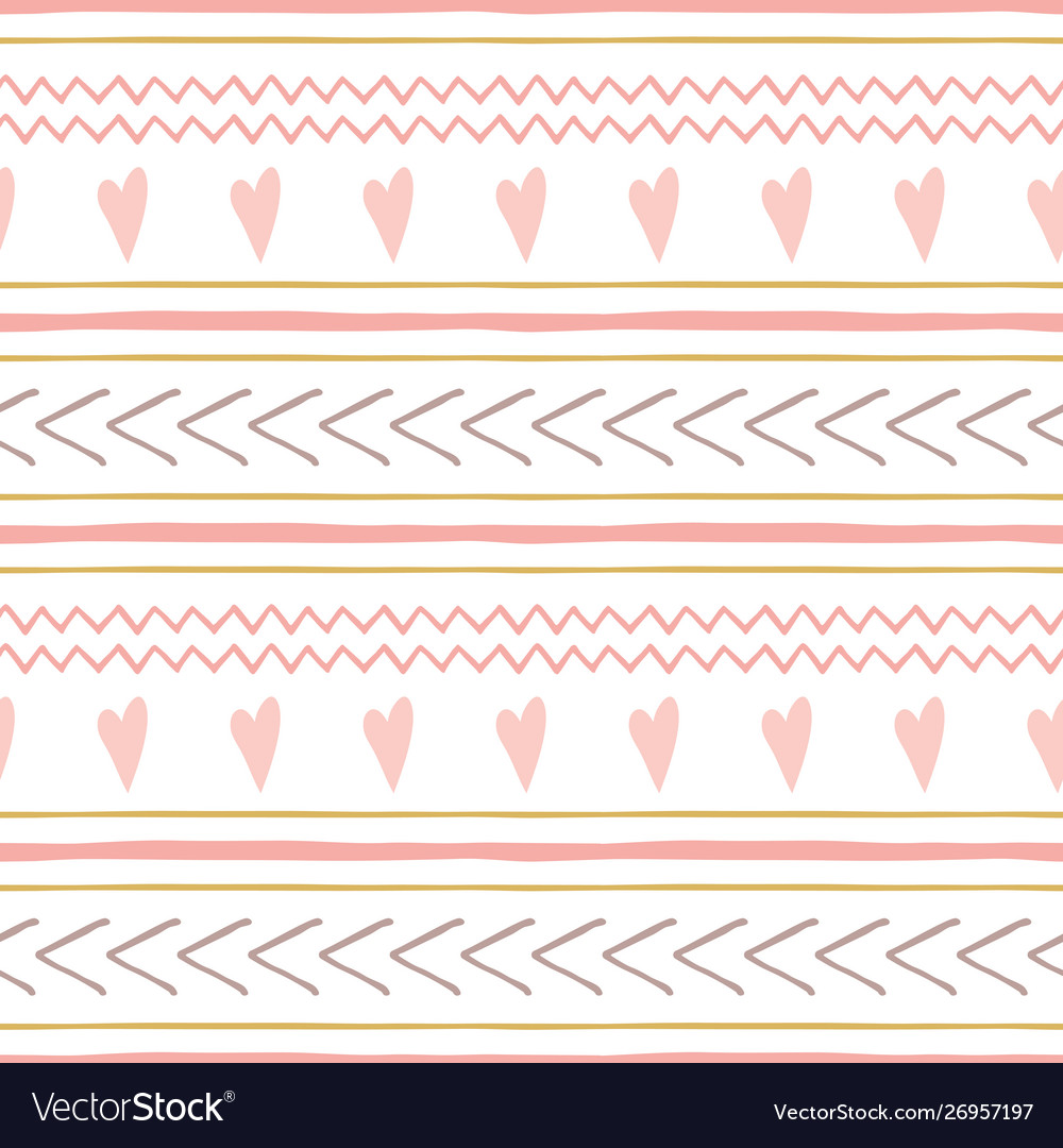Cute abstract hand drawn pink seamless patterns