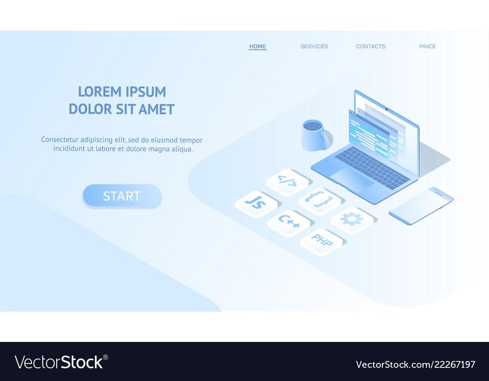Isometric web banner development