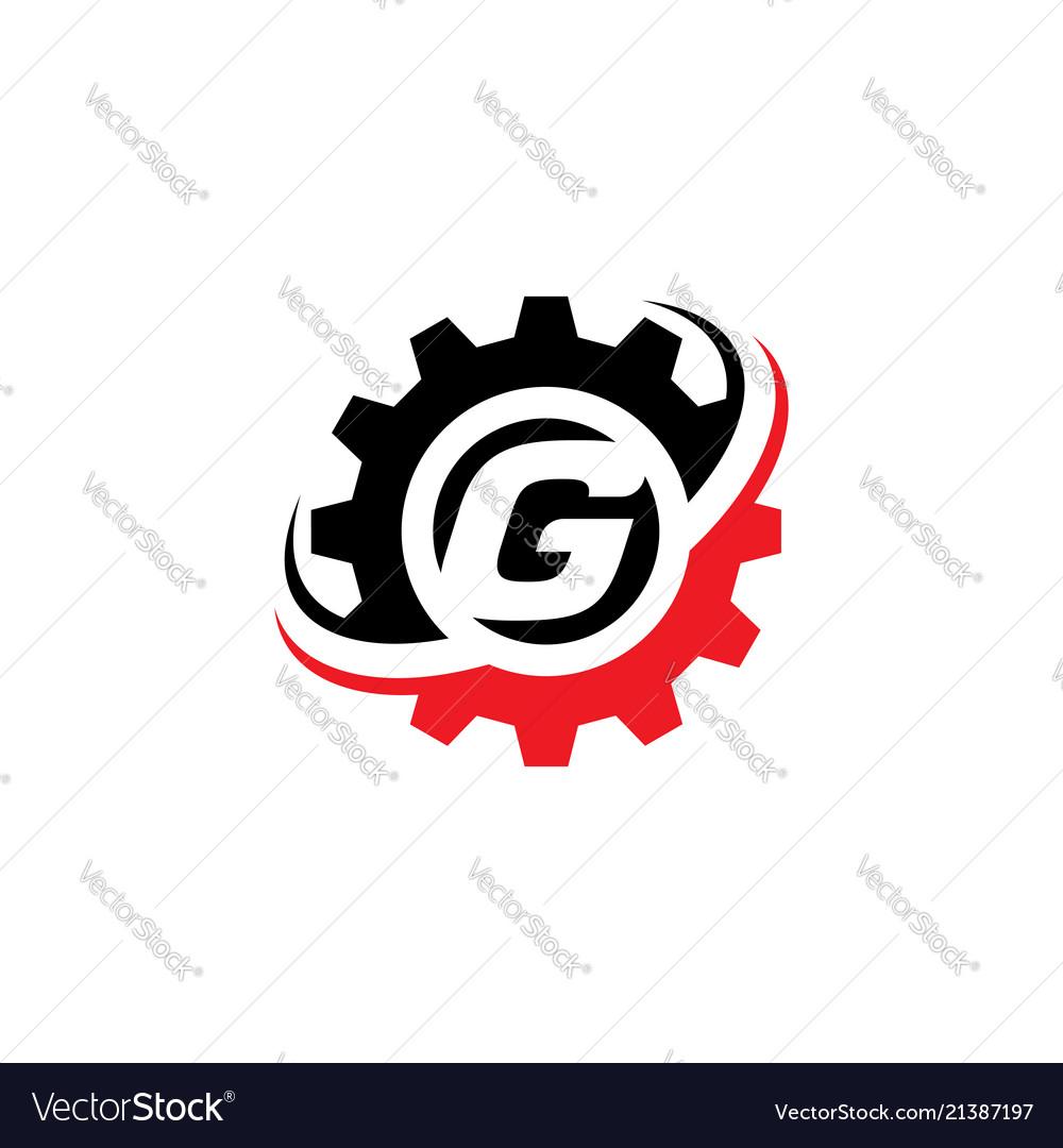 letter g gear logo design template vector image