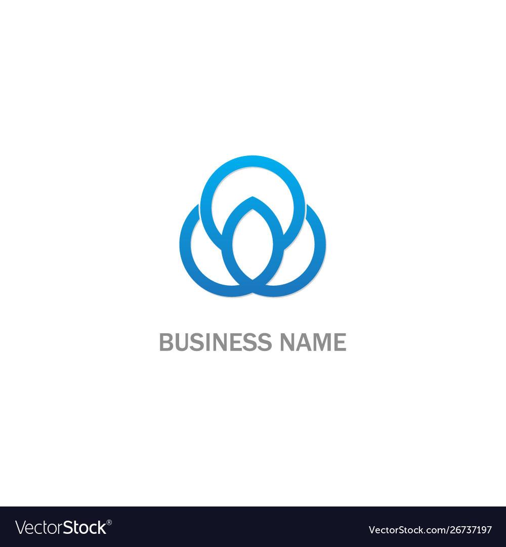 Round line connection logo