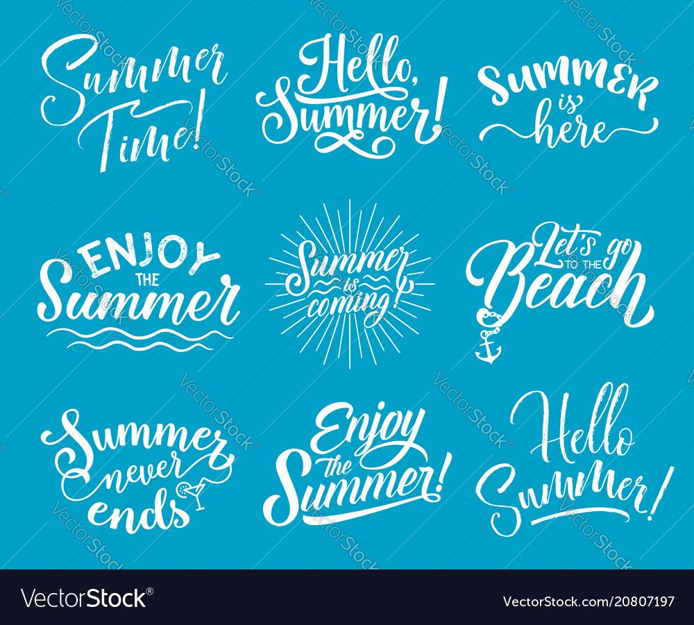 Summer lettering for summertime season design