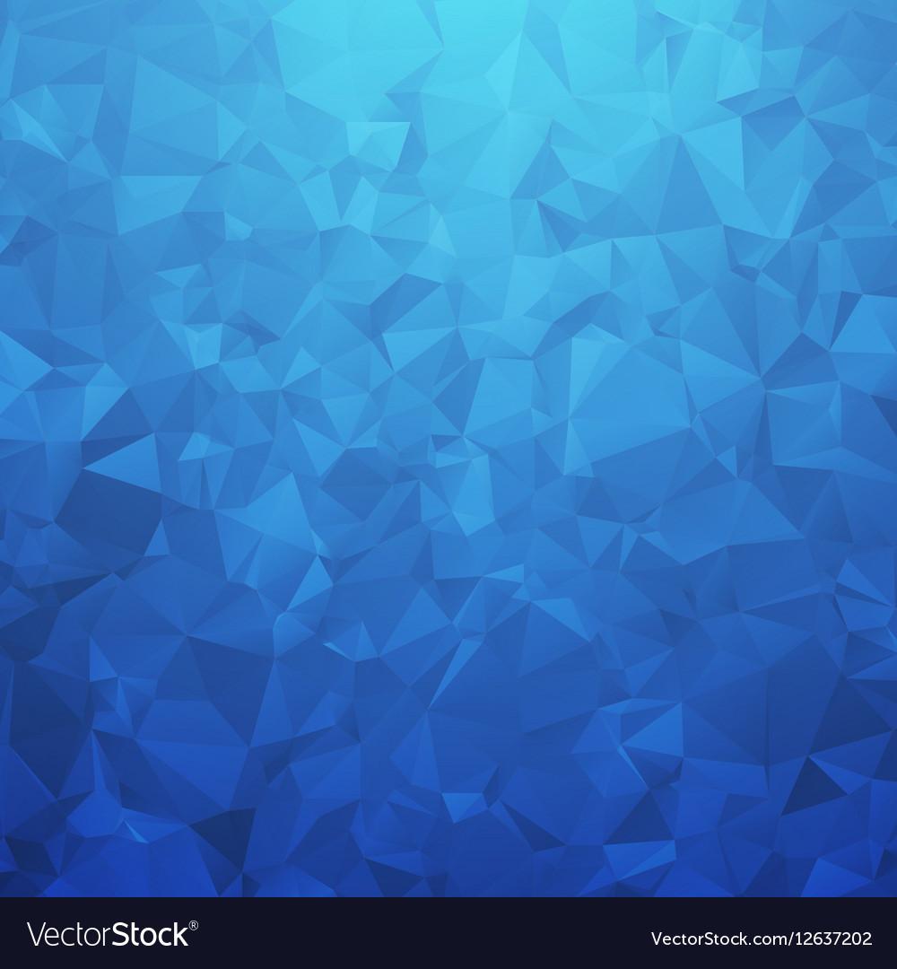 Abstract blue geometric triangular background