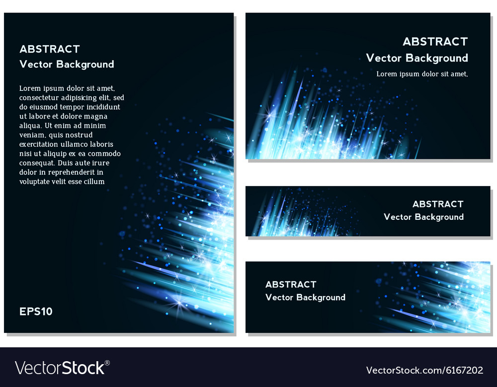Blue Modern Business Card Set vector image