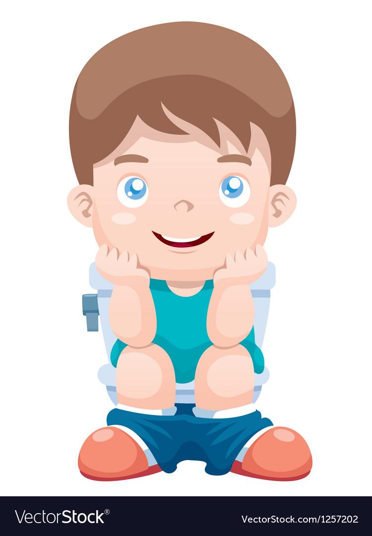 Картинка для туалета в детском саду мальчик