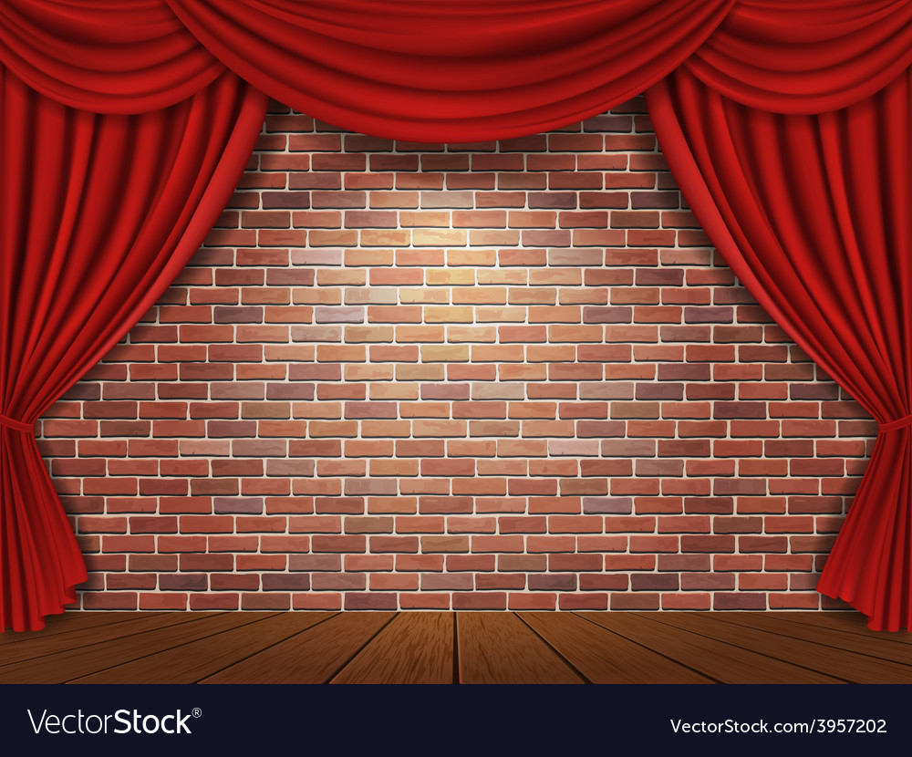 Red Curtains Background Royalty Free Vector