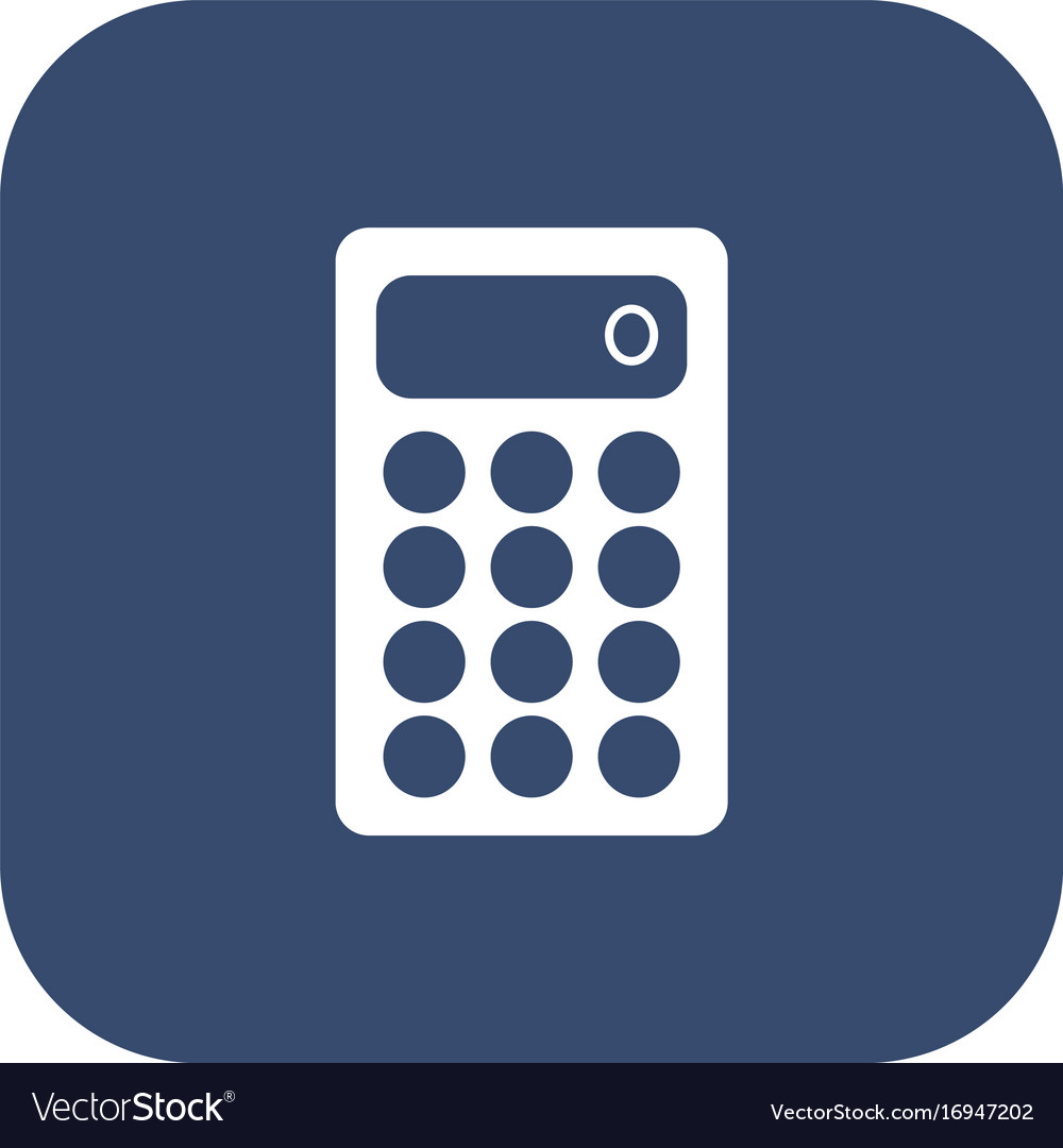 Calculator icon flat design style