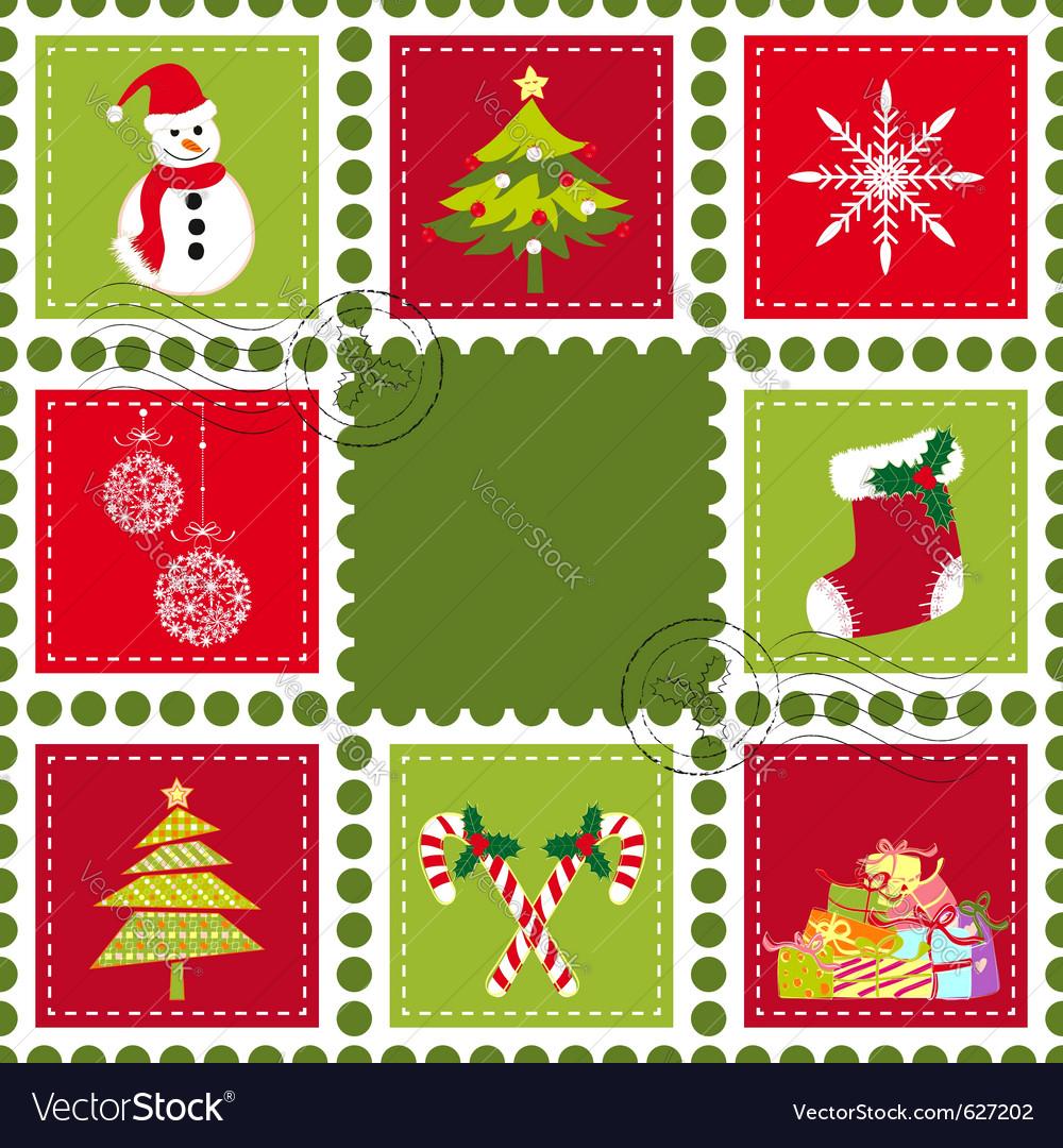 Christmas Stamps.Colorful Christmas Stamps