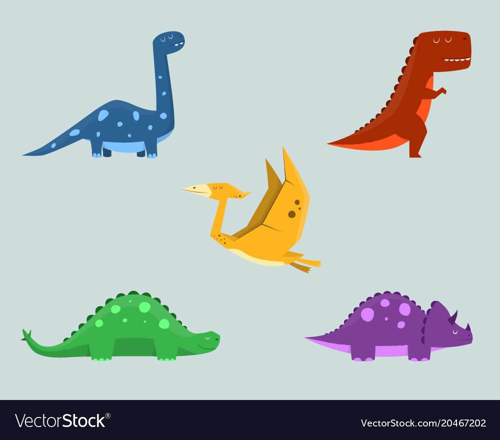 Dinosaur clipart set for commercial use