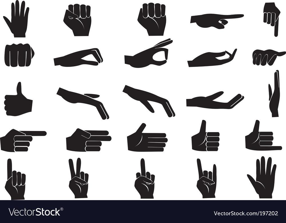 Hand set vector image