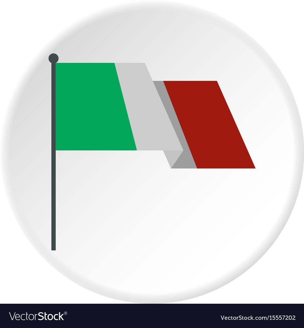 Italian flag icon circle