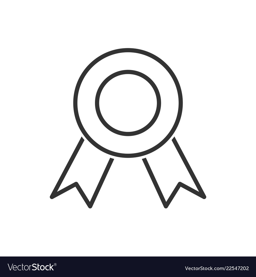 Medal line icon on a white background
