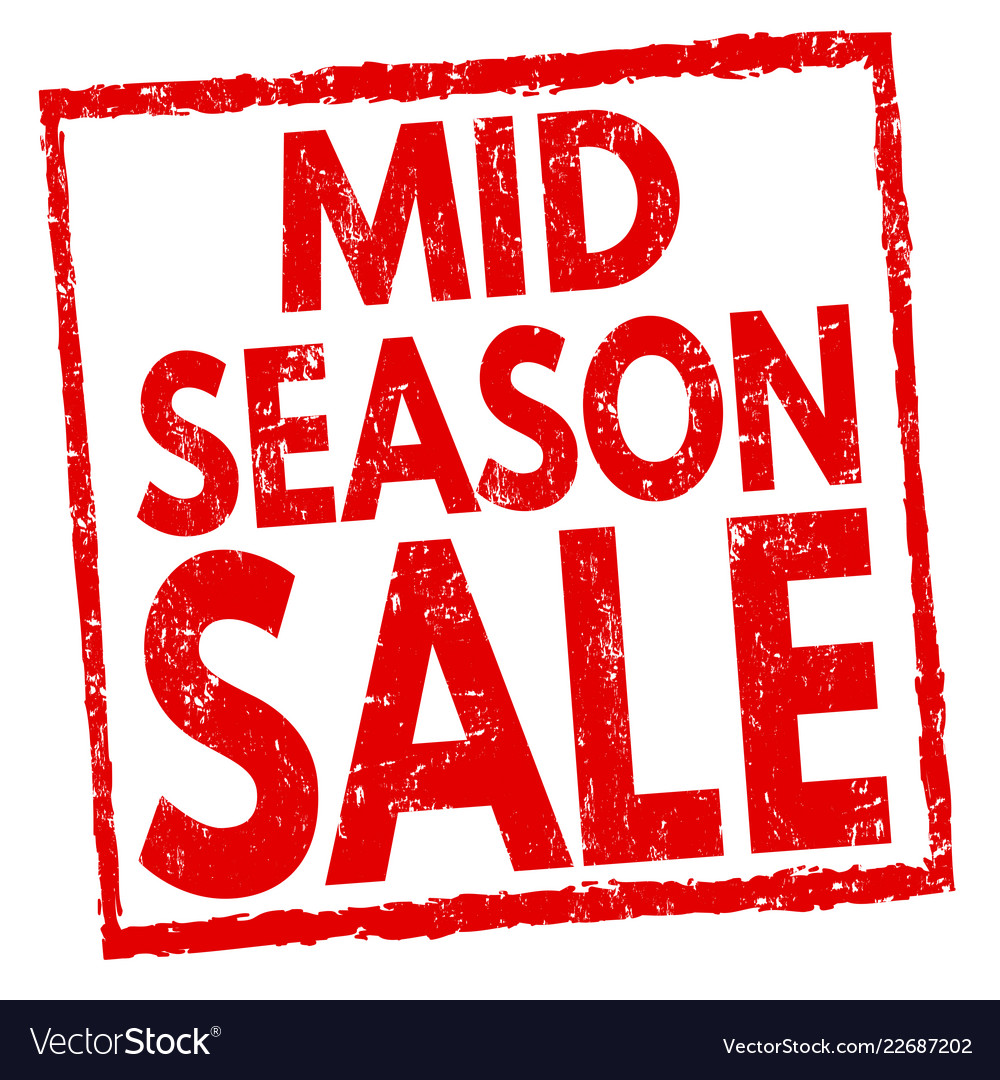 65760149f9b06 Mid season sale sign or stamp Royalty Free Vector Image