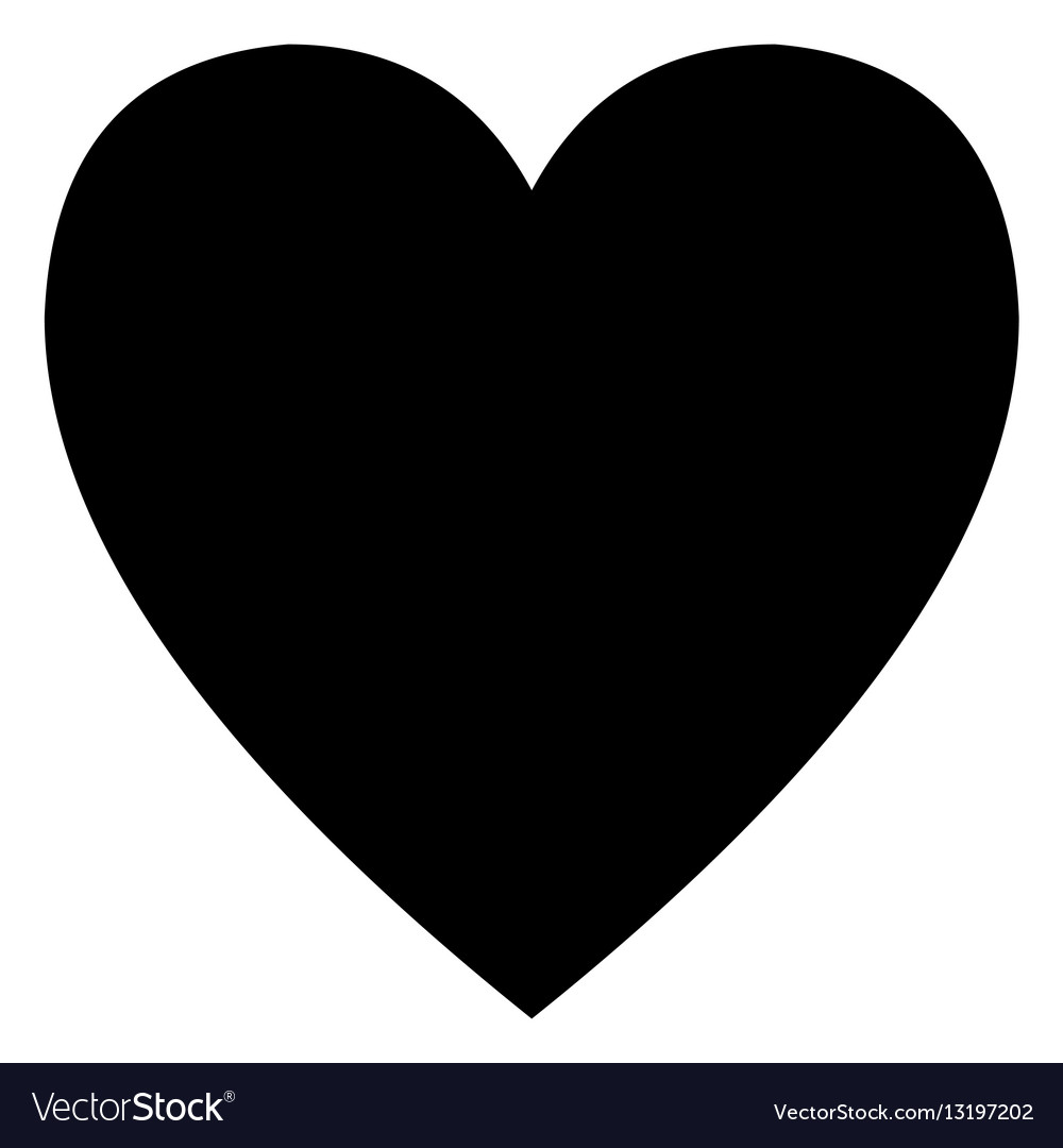 Minimalistic black heart icon template Royalty Free Vector