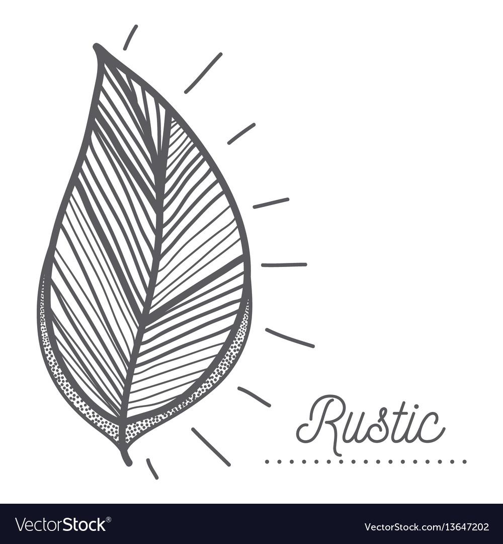 Rustic leaves decoration design