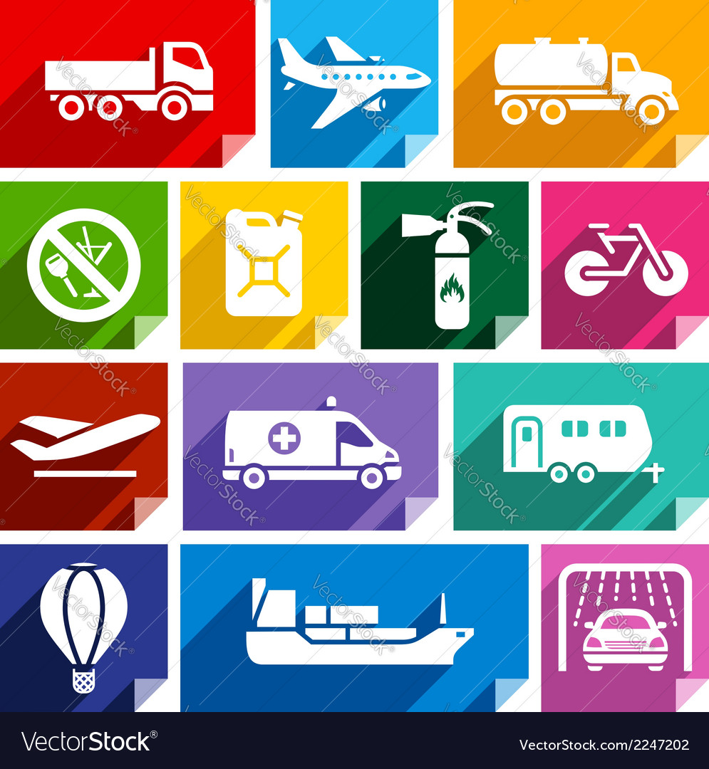 Transport flat icon bright color-02