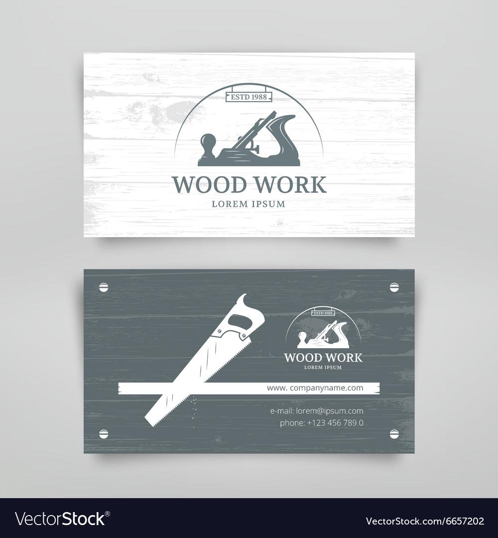 Woodwork vintage card