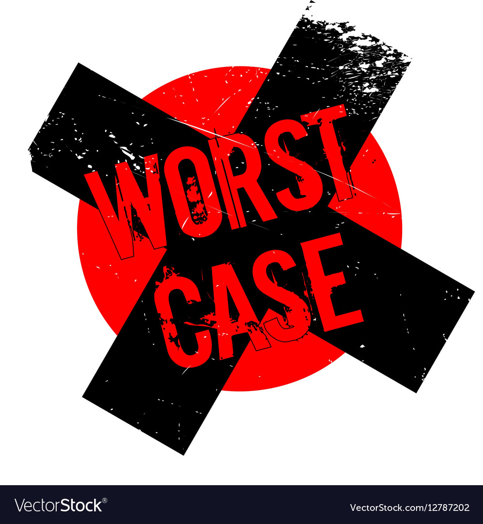 Worst Case rubber stamp vector image