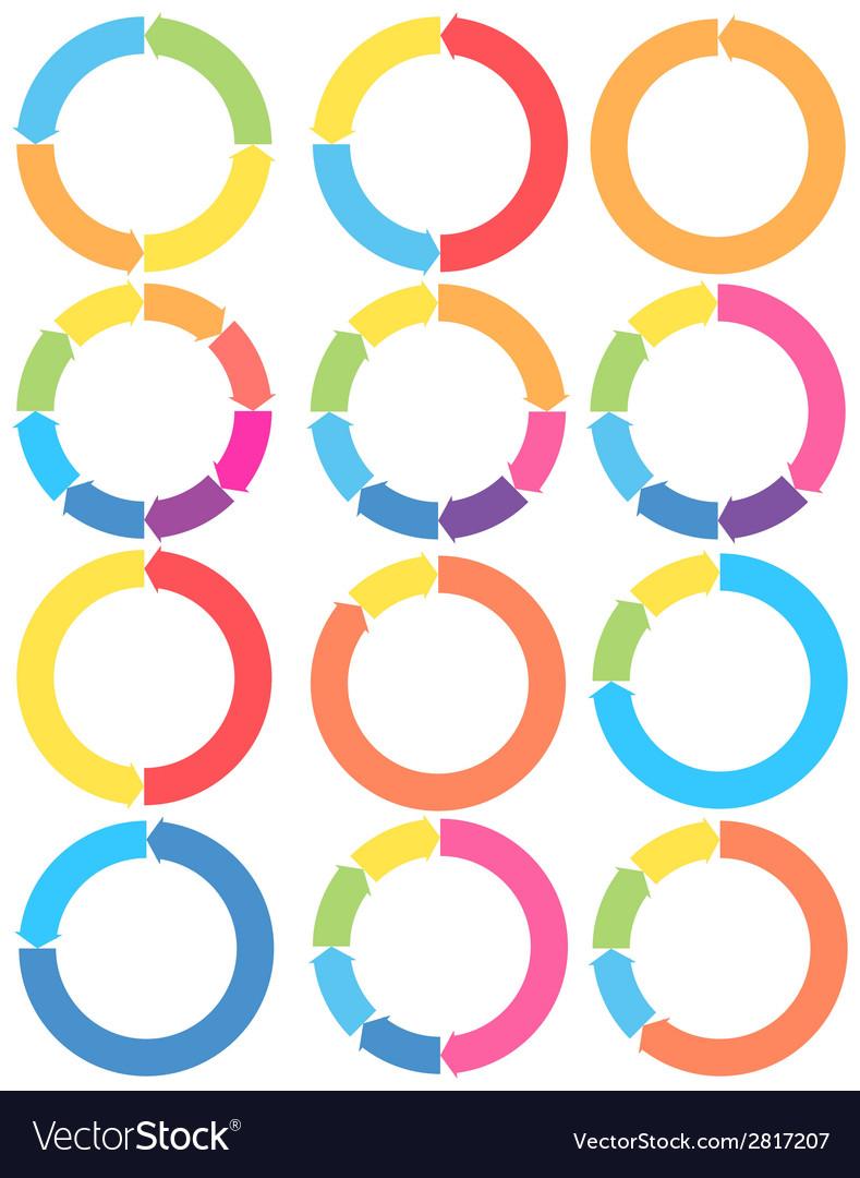 Arrow circle set