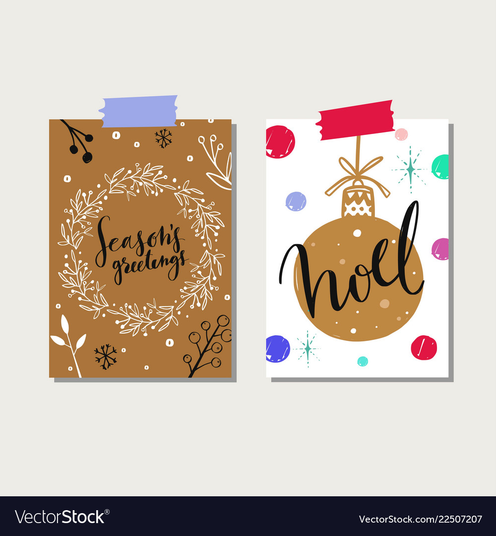 Christmas and new year tags and labels