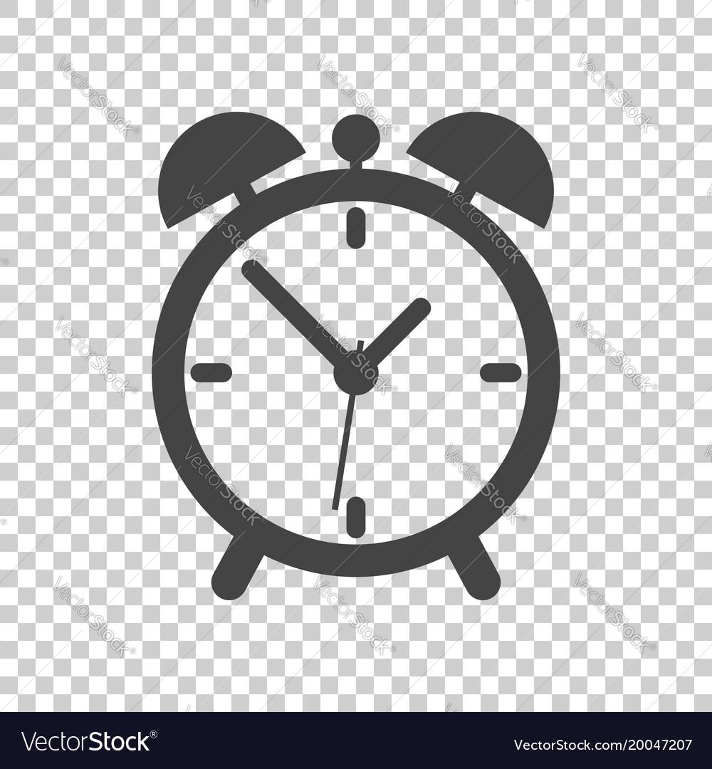 Clock icon flat design on isolated background