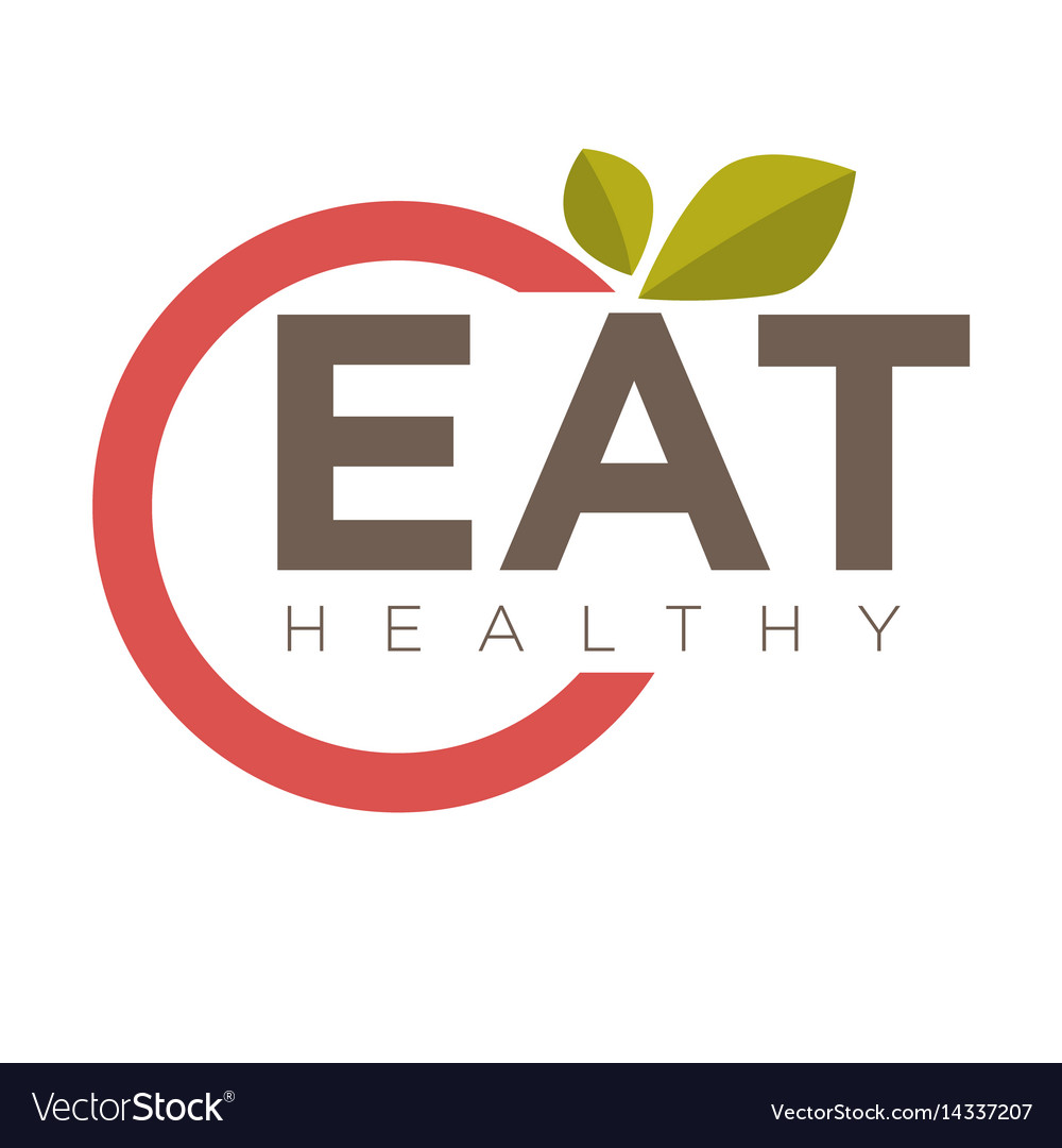 Eat healthy emblem