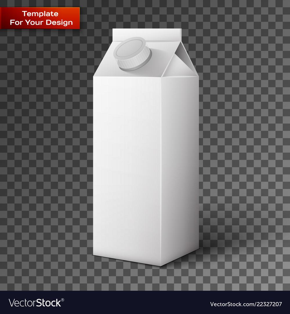 Milk juice beverages carton package blank