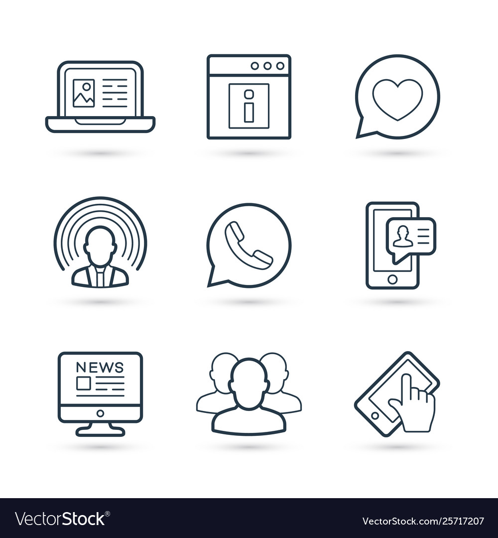 Network social media icon pack eps 10 vector