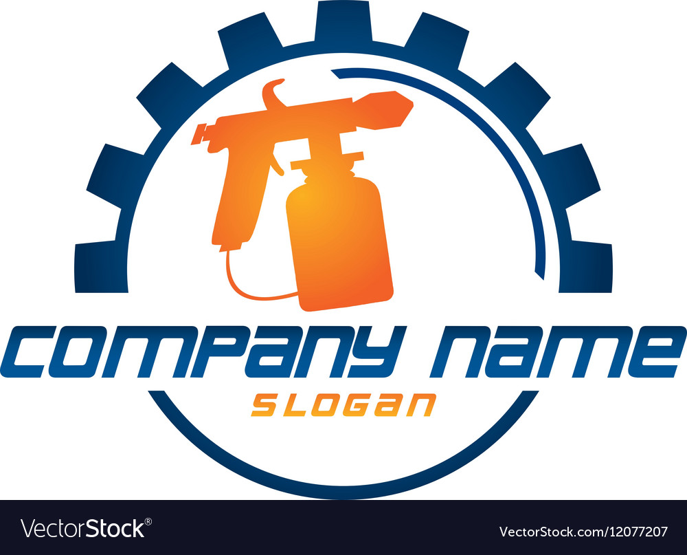 painter logo royalty free vector image vectorstock