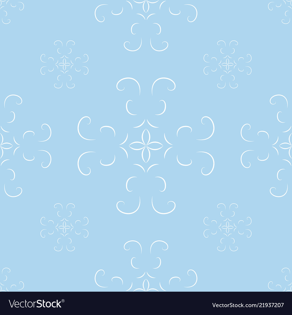 Seamless blue abstract geometric pattern with