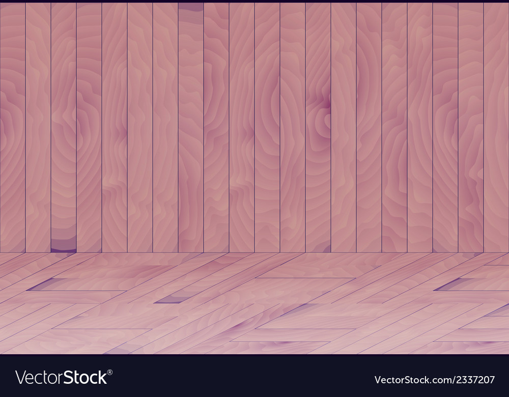 Wooden room with purple - blue wood