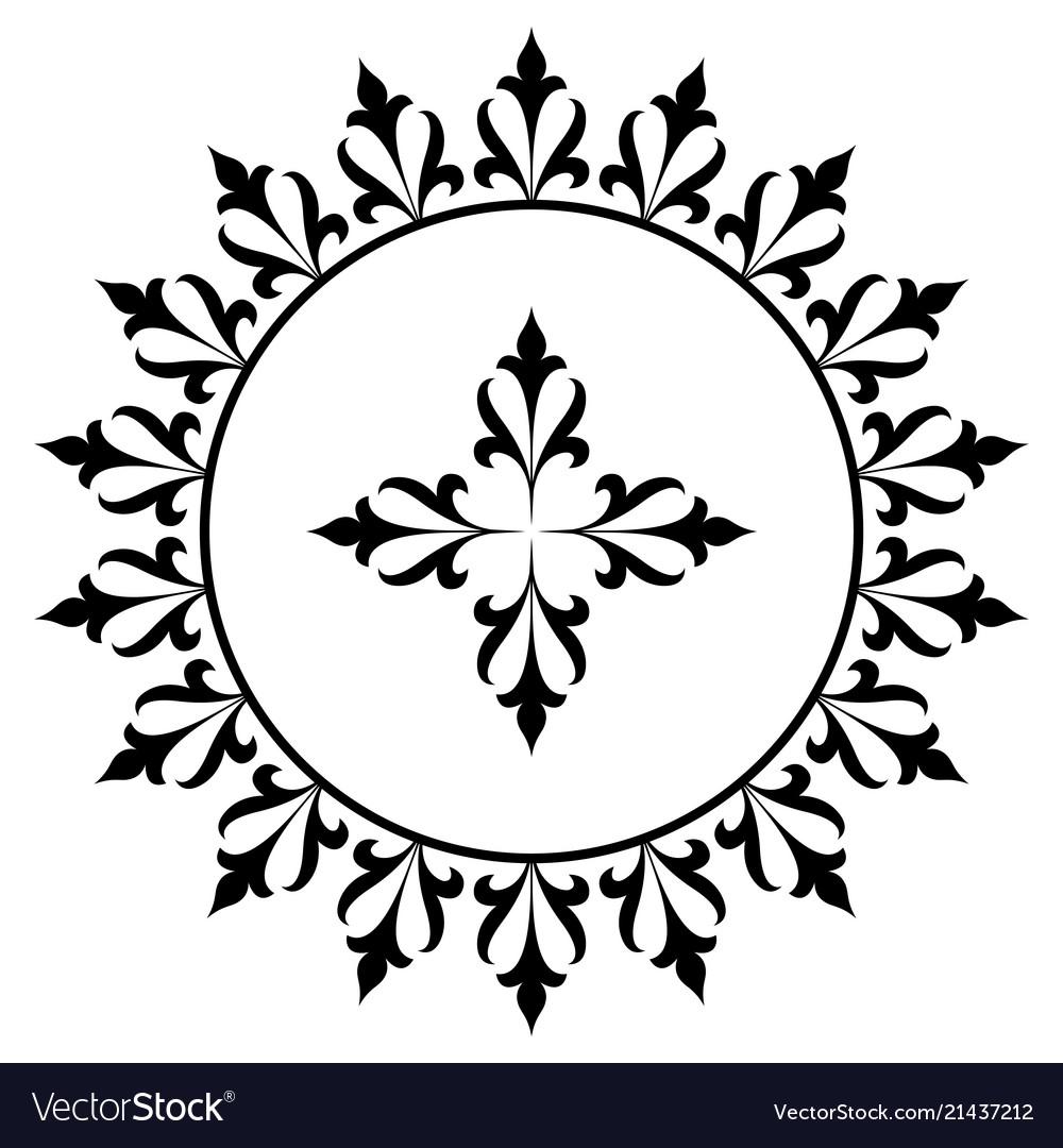 Decorative round frame ancient art