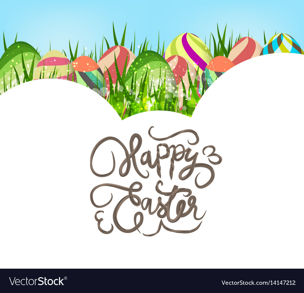 Happy easter eggs colorful background