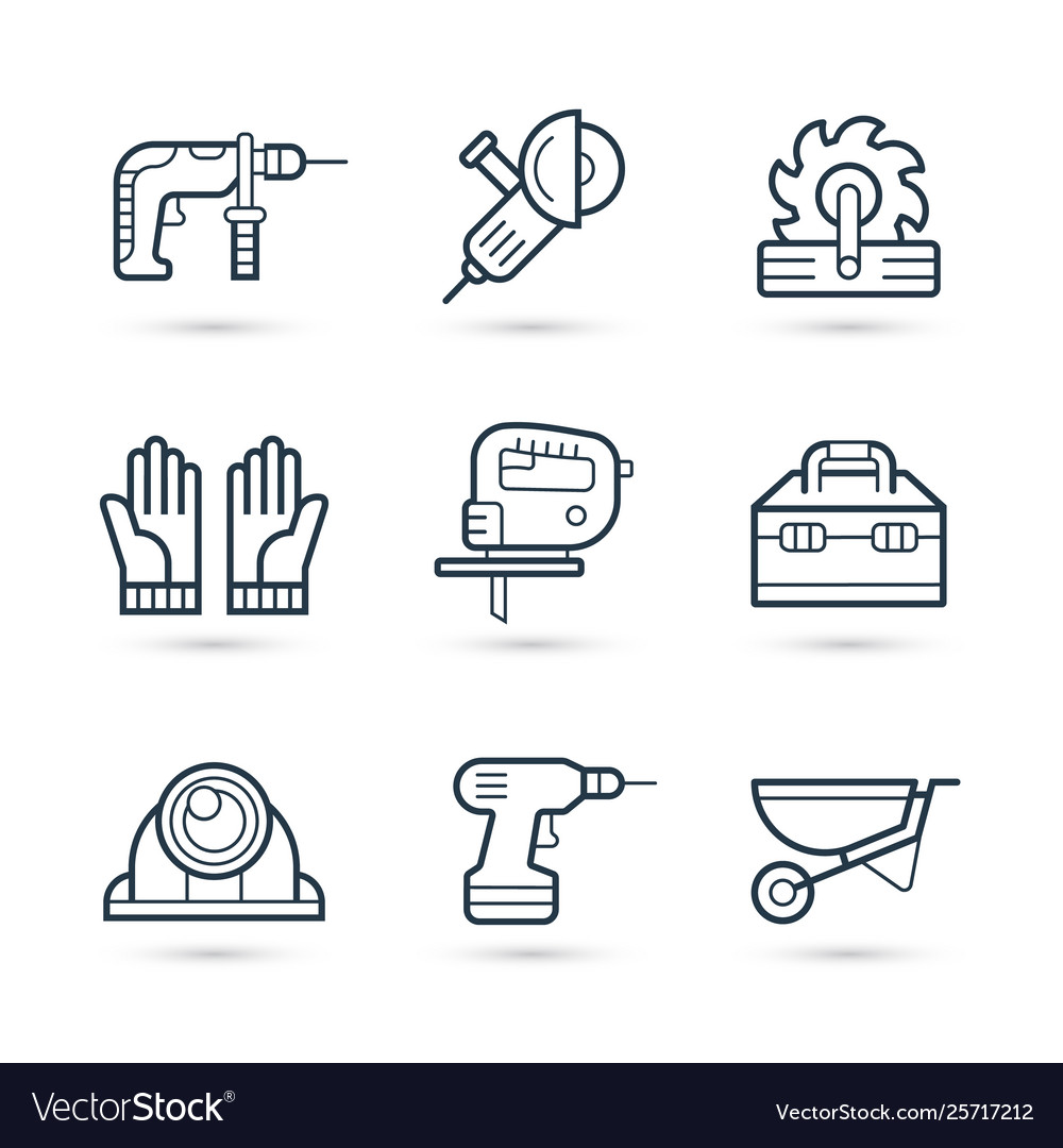 Tools for construction icons pack