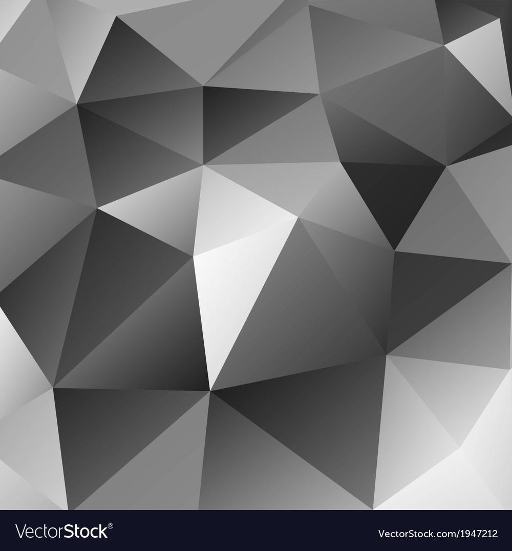 Triangular black background vector image